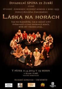 Plakát Láska na horách duben 2014