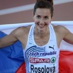 Czech Republic's Denisa Rosolova celebra