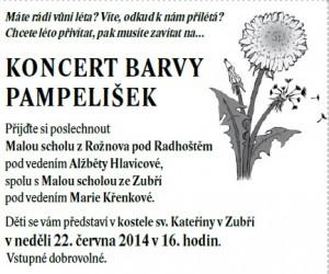 Koncert barvy pampelišek