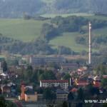 Kostel, škola a Gumárny