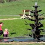 Nová fontána v Zubří