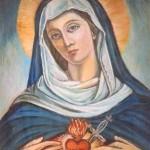 Probodené srdce Mariino pod křížem u Obecníku