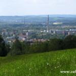 Tovární komíny v Rožnově a Zubří
