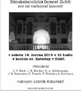 Varhanní koncert  červen 2014