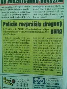 drogový gang zubří