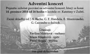 Advetní koncert 2014