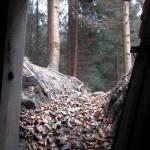 Výhled z bunkru na jih