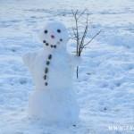 Únorový sněhulák