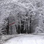 Zasněžený konec Rožnovské ulice