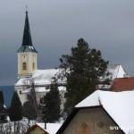 Zasněžený kostel