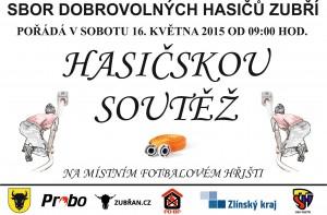 Plakát na soutěž SDH Zubří 2015