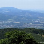 Dolní část Zubří a okolí z Radhoště