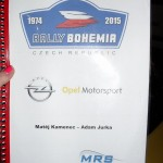 Posadka Kamenec-Jurka obsadili 1.misto v Opel Adam Cupu na Rally Bohemia 2015   0006