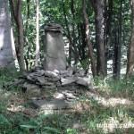 Mohyla z kamenů na Krátké