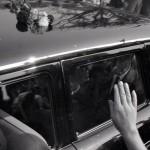 srpen 1968 v Brně - vládní delegace - prezident Ludvík Svoboda v autě