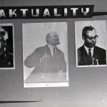 srpen 1968 v Zubří - nástěnka v Gumárnách