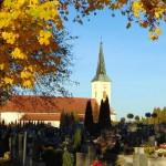 Listopad u kostela sv. Kateřiny Alexandrijské
