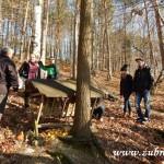 Zdobení vánočního stromečku pro zvířátka v Lipůvce 20160012