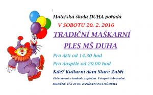Maškarní ples MŠ Duha 2016