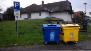 Odpady kontejnery
