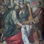 7 JEŽÍŠ PADÁ POD KŘÍŽEM PODRUHÉ