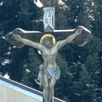 Kříž na rožnovském hřbitově