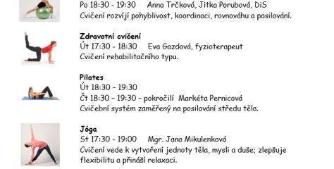 Tělovýchovná jednota Gumárny Zubří oddíl Asociace sportu pro všechny  zve od září 2019 k pravidelnému cvičení v Sokolovně