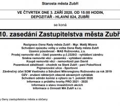 Přímý přenos jednání zastupitelstva města Zubří 3.9.2020