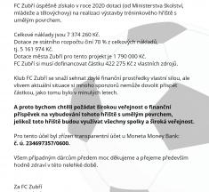 FC Zubří se obrací na veřejnost
