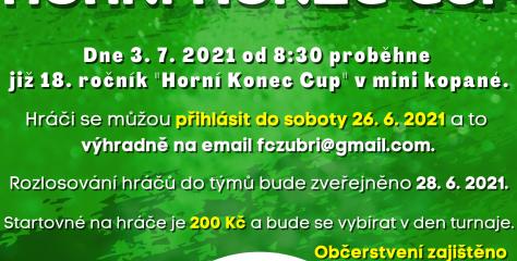 Blíží se další ročník oblíbeného turnaje Horní Konec Cup