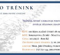 Pozvánka na FYZIO TRÉNINK do sokolovny
